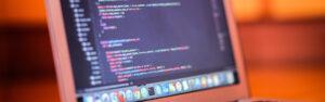 HTML code on laptop