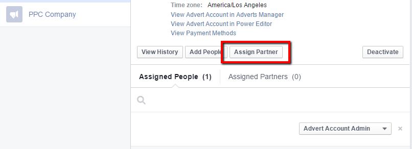 Facebook Business Manager - Assign Partner