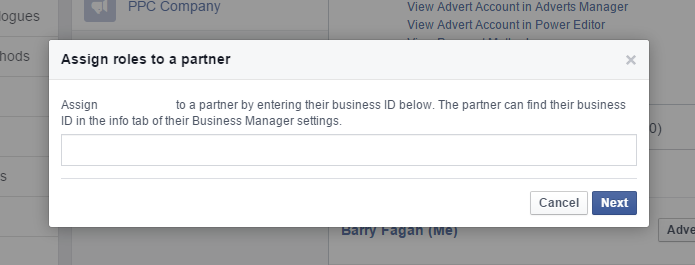 Facebook Business Manager - account number