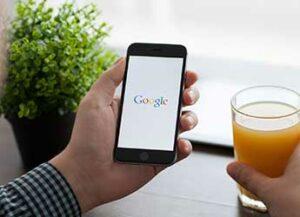 Google banner on smartphone