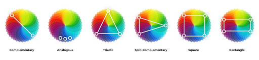 colour wheel contrast examples