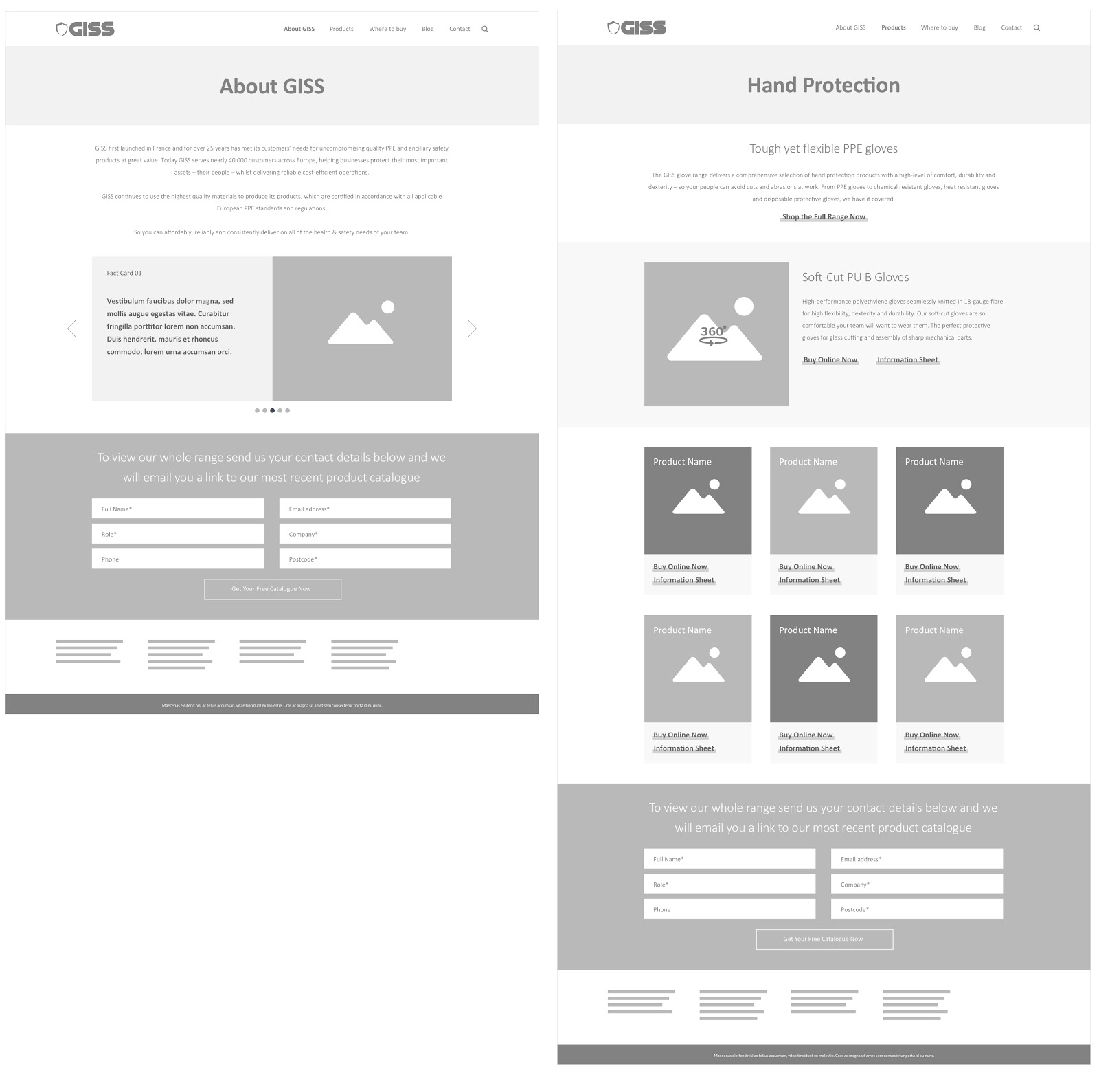 examples of grayscale wireframes